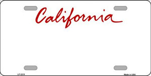 California State Background Blank Novelty Wholesale Metal License Plate