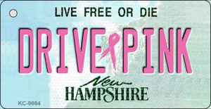 Drive Pink New Hampshire Wholesale Novelty Key Chain