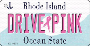 Drive Pink Rhode Island Wholesale Novelty Key Chain