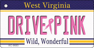 Drive Pink West Virginia Wholesale Novelty Key Chain