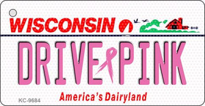 Drive Pink Wisconsin Wholesale Novelty Key Chain