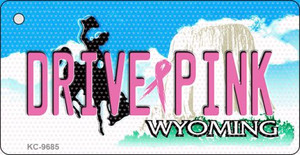 Drive Pink Wyoming Wholesale Novelty Key Chain