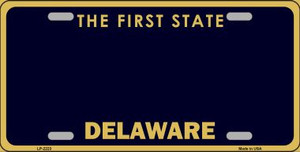 Delaware State Background Blank Novelty Wholesale Metal License Plate LP-2223
