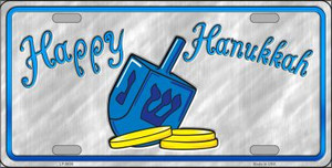 Happy Hanukkah Dreidel Novelty Wholesale Metal License Plate