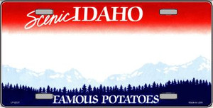 Idaho Novelty State Background Blank Wholesale Metal License Plate