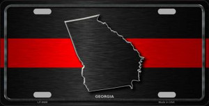 Georgia Thin Red Line Wholesale Metal Novelty License Plate