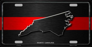 North Carolina Thin Red Line Wholesale Metal Novelty License Plate
