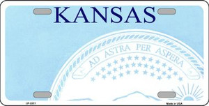 Kansas Novelty State Background Blank Wholesale Metal License Plate LP-2231