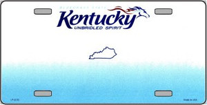 Kentucky Novelty State Background Blank Wholesale Metal License Plate LP-2232