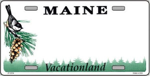 Maine Novelty State Background Blank Wholesale Metal License Plate LP-2234