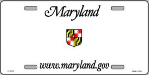 Maryland Novelty State Background Blank Wholesale Metal License Plate LP-2235