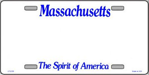 Massachusetts Novelty State Background Blank Wholesale Metal License Plate LP-2236