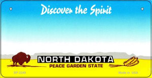 North Dakota Novelty State Bicycle License Plate