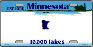 Minnesota Novelty State Background Blank Wholesale Metal License Plate LP-2238
