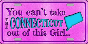 Connecticut Girl Novelty Wholesale Metal License Plate
