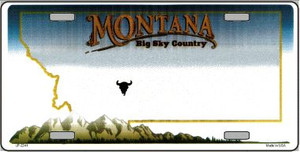 Montana Novelty State Background Blank Wholesale Metal License Plate LP-2241