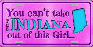 Indiana Girl Novelty Wholesale Metal License Plate