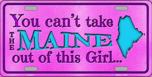 Maine Girl Novelty Wholesale Metal License Plate