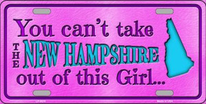 New Hampshire Girl Novelty Wholesale Metal License Plate