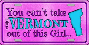 Vermont Girl Novelty Wholesale Metal License Plate
