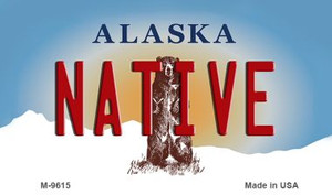 Native Alaska State Background Wholesale Novelty Metal Magnet