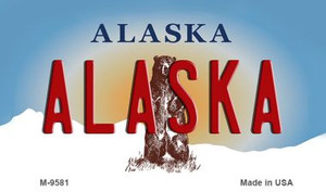 Alaska State Background Wholesale Novelty Metal Magnet