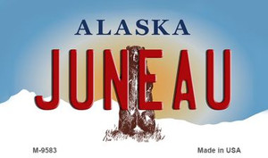 Juneau Alaska State Background Wholesale Novelty Metal Magnet