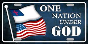 One Nation Under God Novelty Wholesale Metal License Plate