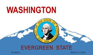Washington Background With Seal Wholesale Novelty Metal Magnet