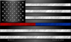 American Flag Police / Fire Wholesale Novelty Metal Magnet