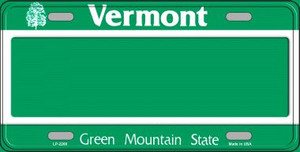 Vermont Novelty State Background Blank Wholesale Metal License Plate