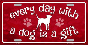 Dog Is A Gift Novelty Wholesale Metal License Plate
