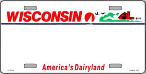 Wisconsin Novelty State Background Blank Wholesale Metal License Plate LP-2264