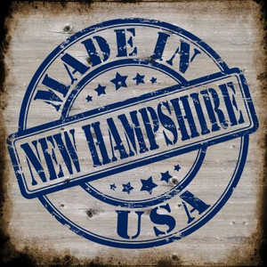 New Hampshire Stamp On Wood Wholesale Novelty Metal Square Sign
