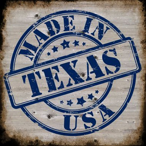 Texas Stamp On Wood Wholesale Novelty Metal Square Sign