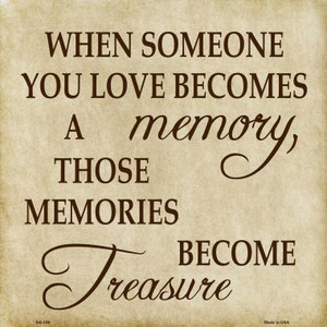 Memory Become Treasure Wholesale Novelty Metal Square Sign