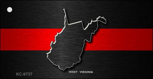 West Virginia Thin Red Line Wholesale Novelty Key Chain