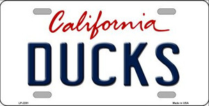 Ducks California Novelty State Background Wholesale Metal License Plate LP-2281
