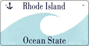 Rhode Island Novelty State Background Bicycle License Plate