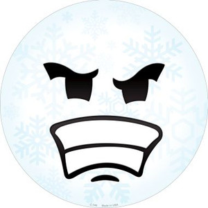 Angry Face Snowflake Wholesale Novelty Metal Circular Sign