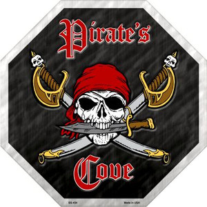 Pirates Cove Wholesale Metal Novelty Stop Sign
