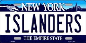 Islanders New York Novelty State Background Wholesale Metal License Plate