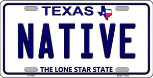 Native Texas Background Novelty Wholesale Metal License Plate