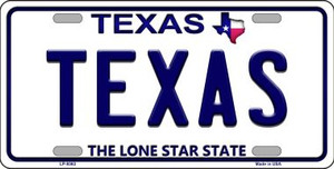 Texas Background Novelty Wholesale Metal License Plate