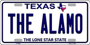 Alamo Texas Background Novelty Wholesale Metal License Plate