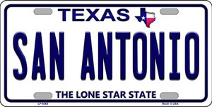 San Antonio Texas Background Novelty Wholesale Metal License Plate