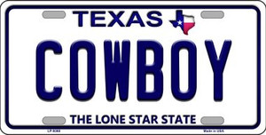 Cowboy Texas Background Novelty Wholesale Metal License Plate