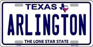 Arlington Texas Background Novelty Wholesale Metal License Plate