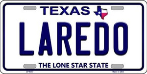 Laredo Texas Background Novelty Wholesale Metal License Plate