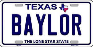 Baylor Texas Background Novelty Wholesale Metal License Plate
